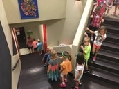 Mrs. Henning's Kinder-gators on the way to lunch!