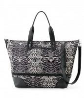 Black Zebra Getaway Bag expands too