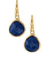 Cobalt Stone Drop Earrings - (Retired) - $20