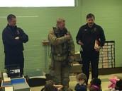 Fireman Brian showed us his gear!