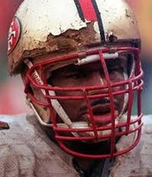 In 1990 football helmets had a lot less protection .