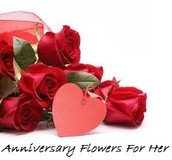 Finest online Flowers present for Anniversary Flowers For Her day