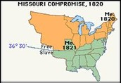 This is a map of the Missouri Compromise