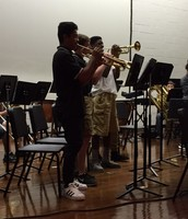 Band performing for 6th grade Parent Night
