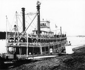 Steam boats can carry cargo and people