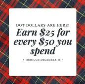 Earn Dot Dollars! Yay!