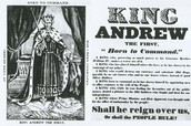 King Andrew Political Cartoon