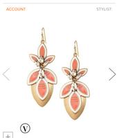 Pink hibiscus Earrings