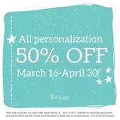 50% off ALL personalization