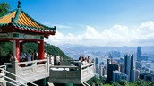 attraction 1- Victoria's  peak.