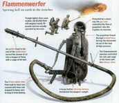 The Germans made the First Flamethrower or (flammenwerfer)