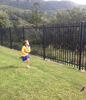 Henry running well, even with a stitch!