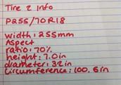 Tire 2 Information