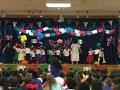 Ms. Stone's Kinder Panthers dance to A La Rueda, Rueda at our Diez y Seis Celebration!