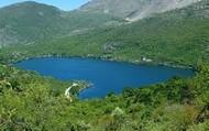 L shaped lake