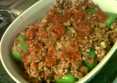 European Union Stuffed Peppers.
