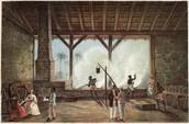 Sugar Boiling House, Cuba, 1850