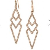Pave Spears in Rose Gold- $49