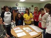 Reviewing writing samples -providing students models