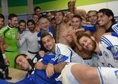 The players with Bibi Natanyahu