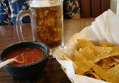 come down to are mexican restrunt on sundays for free chips and salsa with a half of drink