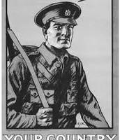 Propaganda ad for enlisting in the war