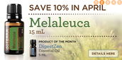 10% off Melaleuca (Tea tree) Oil! $17.10 Retail!