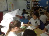Students Reading With Parent Volunteers