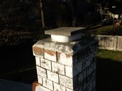 Covered chimney for gas fireplace