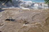 During a tsunami