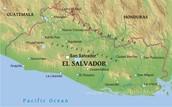El Salvador Physical Map