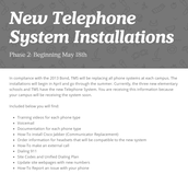 Training Information for New Phone Systems