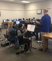 Band in the computer lab!
