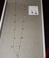 Demi Layering Necklace and Demi Earrings Silver