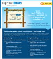 Espresso Coding Summer Camp