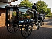 The horse drawn carriage funeral