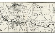 Map of the Oregon Trail