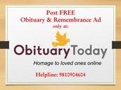 Free online obituary