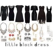 Compliment the little black dress in your closet:)
