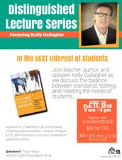 Don't Forget Distinguished Lecture!