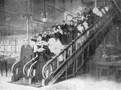 First working escalator