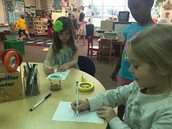 Drawing our caterpillars
