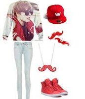 red belieber outfit