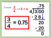 Converting fraction into a decimal