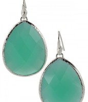 Serenity Stone Drop Earrings (Aqua)