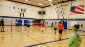 8th grade volleyball tourney at lunch