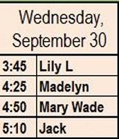 Wednesday, Sept 30