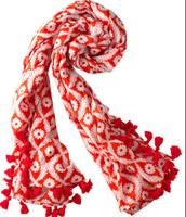 Capri Cotton Wrap in Red