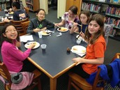 Students enjoying lunch