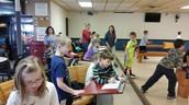 Second grade at bowling